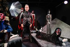Jean Paul Gaultier at the opening of his exhibition at Swarovski Kristallwelten Store Wien in 2015. (Photo by Franziska Krug/Getty Images for Swarovski Kristallwelten) Swarovski Crystal World, International Artist, Keith Haring, Jean Paul Gaultier, Installation Art, Concept Art, Darth Vader, Batman, Superhero