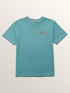 Volcom Little Boys Flexer Short Sleeve Tee - Blue Bird 3T