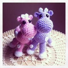 Crocheted Giraffe Amigurumi Stuffed Animal by ErinGlezCrafts, $20.00