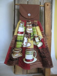 Coffee Kitchen Towel UPick Top Color Hanging by SnowNoseCrafts, $5.00