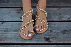 6c094431d Shoes - 2018 Fashion Summer Pearl Leather Handmade Chic Sandals