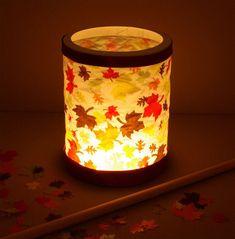 Make your own lantern autumn leaves DIY instructions for . Make your own lantern autumn leaves DIY instructions for . Diy For Kids, Crafts For Kids, Fall Leaf Garland, Metal Pumpkins, Autumn Crafts, Diy Autumn, Candle Spells, Paper Lanterns, Diy Art
