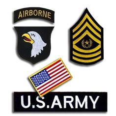 1Set 5pcs Us 101st Airborne Division 3d Suit Embroidered Cloth Stickers Military Badges Armband Clothing Accessories #Affiliate
