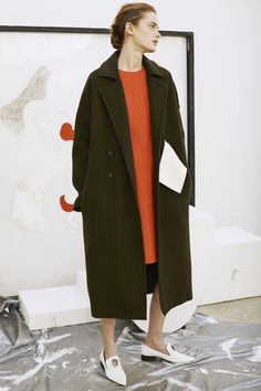 Kate Signature Oversized Coat in Khaki by Rejina Pyo. Signature Rejina Pyo coat in khaki Melton Wool with removable contrast white belt. Oversized fit by design. Fall Fashion 2016, Autumn Winter Fashion, Rejina Pyo, Belted Coat, Oversized Coat, Fashion Brand, Women's Fashion, Ready To Wear, Normcore