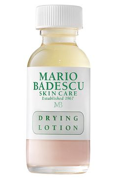 Mario Badescu Drying Lotion. Just use a q-tip to dip into the bottle through the liquid and into the pink stuff and dab directly on pimple. Upon awakening the next morning, the whitehead WILL be gone.