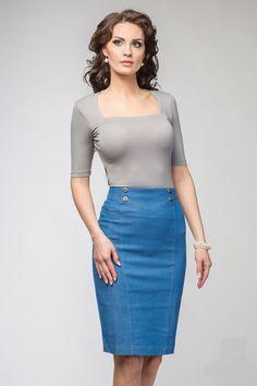 Купить джинсовые юбки в интернет магазине