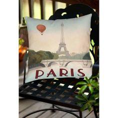 Thumbprintz City Skyline Paris Indoor/Outdoor Pillow, Multicolor