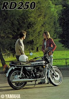 1976 Yamaha RD250 Motorcycle Sales Brochure 2 cyl 2 stroke 76 RD 250 | eBay