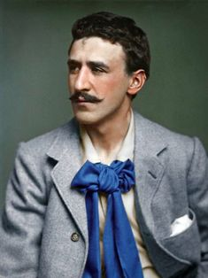 colorized by Jecinci // Mackintosh was a Scottish architect, designer, water colourist and artist. His artistic approach had much in common with European Symbolism. His work, alongside that of his wife Margaret Macdonald, was influential on European design movements such as Art Nouveau and Secessionism and praised by great modernists such as Josef Hoffmann // source: facebook.com/jecinci Dark Photography, Still Life Photography, Portrait Photography, Mackintosh Design, Bohemian Men, All The Young Dudes, Charles Rennie Mackintosh, Design Movements, Famous Architects