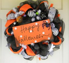 Halloween Wreath Mesh