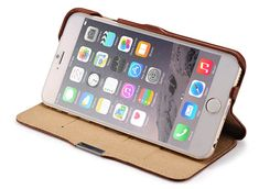 iCarer iPhone 6 Plus/ 6S Plus Side open Vintage Series Genuine Leather Wallet Stand Case Cover