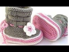 Baby Shoes Baby Shoes - Baby Sneakers from Maschenlädchen Knit Baby Shoes, Knit Baby Dress, Knitted Baby Clothes, Crochet Shoes, Baby Knitting Patterns, Hand Knitting, Sewing Patterns, Crochet Patterns, Knitting Videos