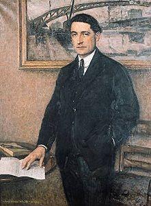 Jules Romains (26 augustus 1885 – 14 augustus 1972) Portret door  Paul Émile Bécat, 1922