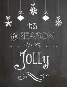 Free Christmas Printables |UpcycledTreasures.com Enjoy these FREE #Christmas #printables that you can either print or transfer over onto a chalkboard.