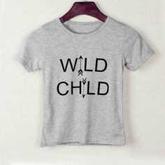 Awesome Low Price Cute WILD CHILD Letter Kid Boy Girl Short Sleeves Tops T-Shirt Casual Summer Baby Clothes - $ - Buy it Now!