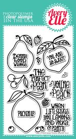 Berry Good clear stamps.  This fruit themed stamp set is so sweet!