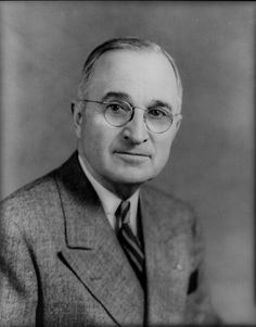 President Harry S. Truman April 12th 1945-January 20th 1953.. Was Vice president under FDR . President Roosevelt died suddenly April 12th 1945 at Warm Springs Georgia,where he was taking a brief rest .33rd President