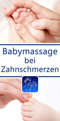 Baby massage for teething problems – toothache - Kinderbetreuung Ideen Baby Massage, Massage Bebe, Teething Problems, Application Iphone, Baby Co, Baby Baby, Baby Health, Baby Kind, First Baby