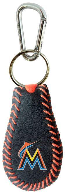 Miami Marlins Team Color Baseball Keychain