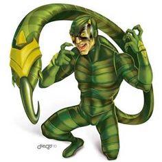 Scorpion from Marvel Comics Scorpion Marvel Villains, Marvel Vs, Marvel Characters, Marvel Comics, Comic Books Art, Comic Art, Sinister 6, Manga Anime, Arnim Zola