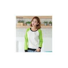 Raglan Pullover ($36) ❤ liked on Polyvore featuring tops, hoodies, sweatshirts, sweatshirt, women, raglan pullover, pullover top, purple pullover, raglan sleeve sweatshirt and raglan top
