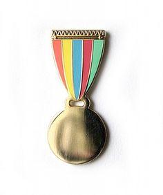 Gold Medal Enamel Pin