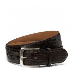 Fausto Colato Gürtel aus Alligatorenleder Gift Finder, Belts, Accessories, Fashion, News, Dark Brown, Get Tan, Leather, Moda