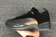 Air Jordan 12 Shoes 2017 Air Jordan 12 Low Black Max Orange-Anthracite New  Year Deals e24e74b79587