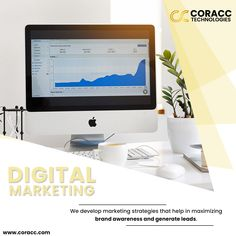 Want to reach your targeted audience? Coracc Technologies develop digital marketing strategies that help in maximizing brand awareness & generating more leads. Digital Marketing Strategy, Marketing Strategies, Application Development, Software Development, Beauty Care, Seo, Tourism, Web Design, Success