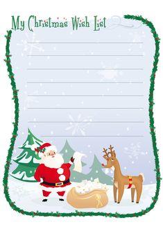Lettera a Babbo Natale versione 7 da stampare gratis