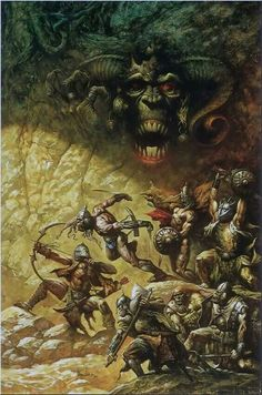 Demon Lord w Orc War Party Eastern Border