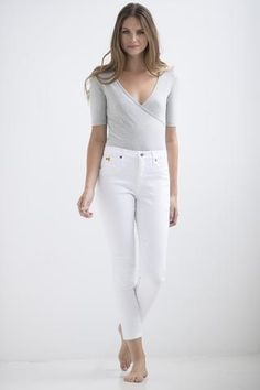 373f3ec21b 1161 (White) Yoga Jeans Ankle length skinny jeans. Proudly Made in Canada  Ankle