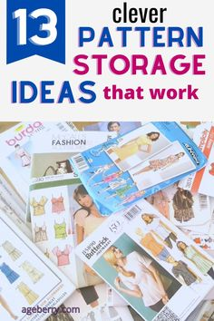 This sewing tutorial is focusing on how to organize sewing patterns for your beginner sewing projects. From useful and creative sewing pattern storage ideas to sewing pattern organization apps, you're sure to find a new system that works for you. All of our sewing areas are different from each other, so having a large variety of ideas to choose from will allow you to find the method that is most effective for you and your sewing room. Sewing For Beginners Diy, Sewing For Dummies, Sewing Basics, Sewing Pattern Storage, Easy Sewing Patterns, Sewing Tutorials, Comic Book Storage, Paper Towel Tubes, Clever