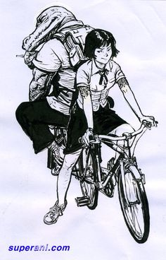 0073 Cartoon Sketches, Art Sketches, Junggi Kim, Character Art, Character Design, Cat Icon, Face Sketch, Kim Jung, Bike Art