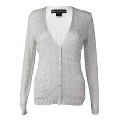 Cable Knit Shimmer Cardigan