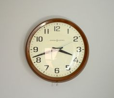 General Electric Wall Clock  by Red Line Vintage