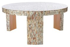 "Everly Coffee Table, Shell on OneKingsLane.com | 39""dia x 18""h 