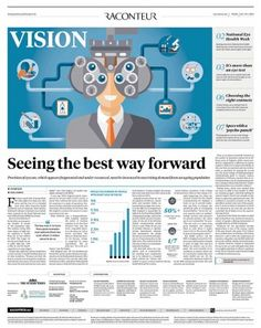 85ab1d91c50 Large feature in Raconteur regarding National Eye Health Week including  clients Vision Express Eyes