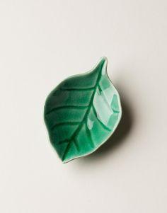 MINI LEAF skål grön