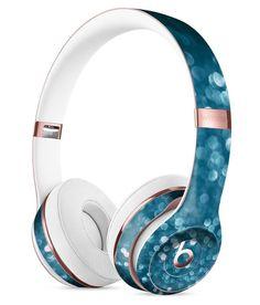 Unfocused Blue Glowing Orbs of Light Full-Body Skin Kit for the Beats by Dre Solo 3 Wireless Headphones