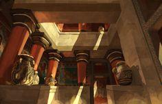 Minoan Courtyard by LordGood.deviantart.com on @DeviantArt