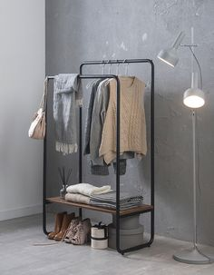 brick hanger on Behance Bar Set Furniture, Metal Furniture, Clothes Rail, Small Apartments, Wardrobe Rack, Bookshelves, Shoe Rack, Brick, Hanger