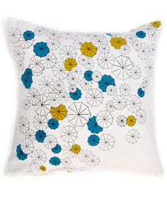 the Umbrellas Cushion Cover by LEIF would match my living room beautifully. cute!