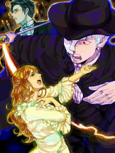 """Crossover between Hetalia and """"The Phantom of the Opera"""" - Art by まるでゲノム THIS MAKES ME HAPPY"""