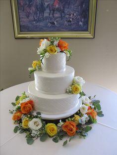 Quilted buttercream wedding cake with fresh flowers in abundance. Fresh Flower Cake, Fresh Flowers, Buttercream Wedding Cake, Custom Cakes, Abundance, Denver, Colorado, Wedding Cakes, Desserts