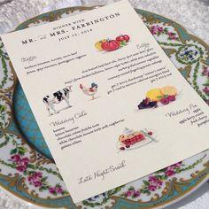 Love this #menu at the #reception at Rancho Santa Fe with @eaedivas via http://instagram.com/flowersannettegomez #wedding #china
