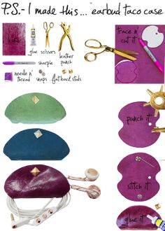Porta-auricolari in pelle fai da te | Style blog: arte, design, consumi
