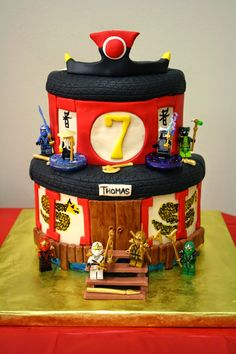 Lego Ninjago Temple Cake                                                                                                                                                                                 More