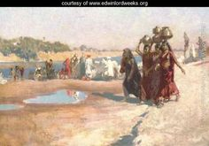 By the River at Ahmedabad, India - Edwin Lord Weeks - www.edwinlordweeks.org