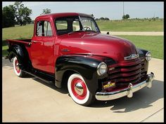 1953 Chevrolet 3100 Pickup 235 CI I blame my husband, but I want this in black and pink!!